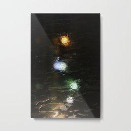 Watery Lights Metal Print