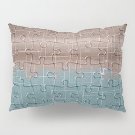 Jig-saw Puzzle Neutral Palette Design Pillow Sham