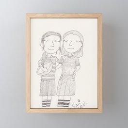 rugby Framed Mini Art Print