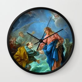 "François Boucher ""St. Peter Invited to Walk on the Water"" Wall Clock"