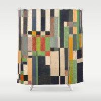 fez Shower Curtains featuring Paralelos by Fernando Vieira
