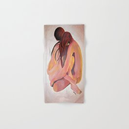 Intimate Couple Hugging and Staying In Touch Hand & Bath Towel