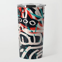 Street Art Pattern Graffiti Post Travel Mug