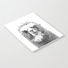 Black and White Alpaca Notebook