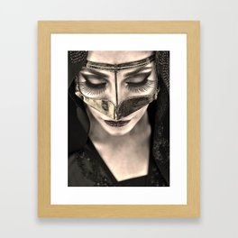 Neqab Portrait Framed Art Print