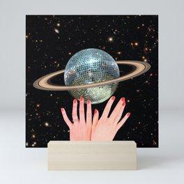 Saturn Disco Mini Art Print