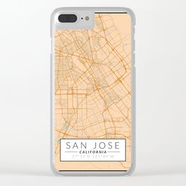 San Jose Map - Color Clear iPhone Case