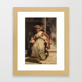 ALEXANDRE CABANEL (FRENCH 1823-1889) Portia and the Caskets, Scene from the Merchant of Venice, 1886 Framed Art Print