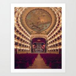 Teatro San Carlo Art Print
