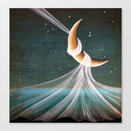 When The Wind Blows - moon lullaby Canvas Print