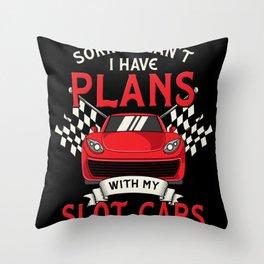 Slot Car Racing My Slot Car Motif Throw Pillow