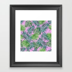 Pink Tropical Framed Art Print