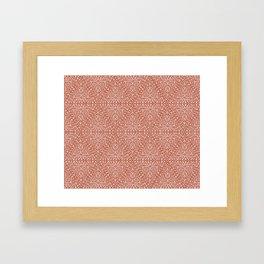 Red and White Framed Art Print