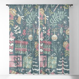 Christmas Joy Sheer Curtain