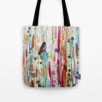 la Tote Bags featuring sur la route by sylvie demers
