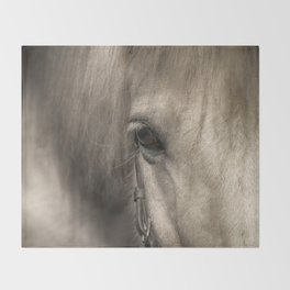 Horse look Throw Blanket