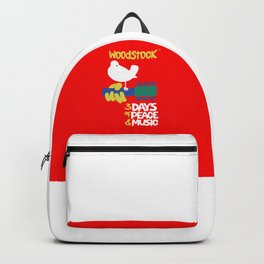 Woodstock 1969 - red background Backpack