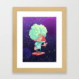 Einstein in Space Framed Art Print