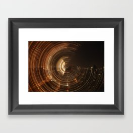 NY Swirl Framed Art Print
