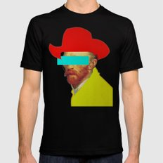 I wanna be a cowboy LARGE Black Mens Fitted Tee