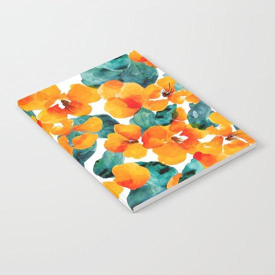 orange floral Notebook