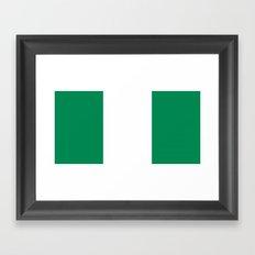 Flag of Nigeria Framed Art Print