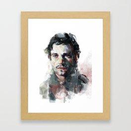 L'uomo dal fiore in bocca Framed Art Print