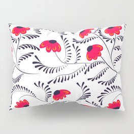 Beauty simple seamless floral pattern swirl Pillow Sham