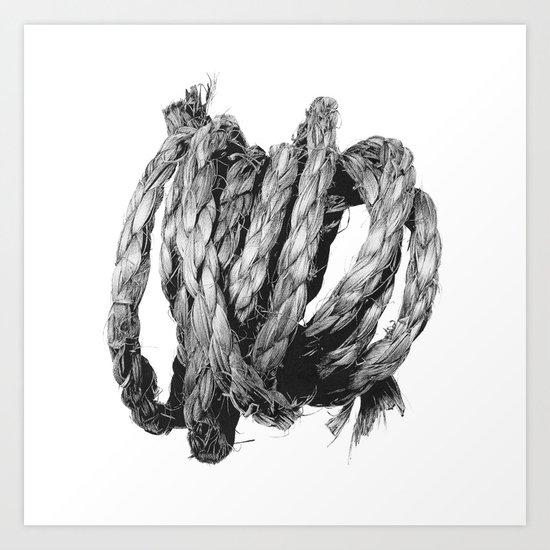 Loose Rope Coil Art Print