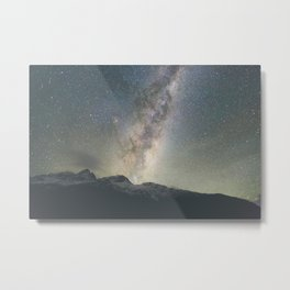 Stars over Mount Aspiring Metal Print