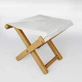 Relief [1]: an abstract, textured piece in white by Alyssa Hamilton Art Folding Stool