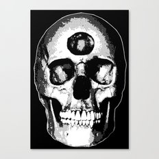Third Eye Bones (Black and White Edition) Canvas Print
