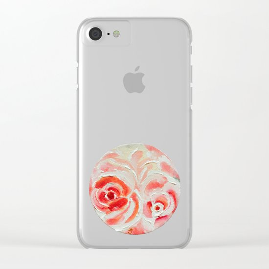 Peach Plums Clear iPhone Case