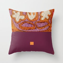 orange&violet1 Throw Pillow