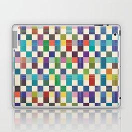 Fair Isle Woolen Quilt Blue Laptop & iPad Skin