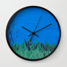 Trees and Grass 2 Wall Clock
