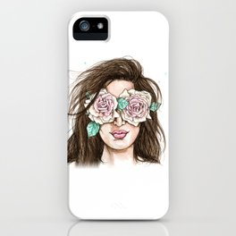 white roses in their eyes (female version) iPhone Case