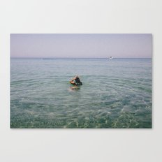 in the sea Canvas Print