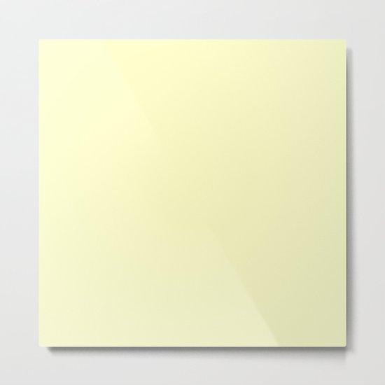 Simply Pale Yellow Metal Print