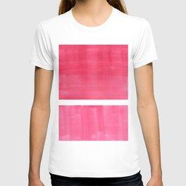 Colorful Bright Minimalist Rothko Pastel Red Pink Midcentury Modern Art Vintage Pop Art T-shirt