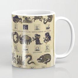 Alphabet of Sea Monsters Coffee Mug
