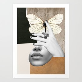 collage art / butterfly 2 Art Print