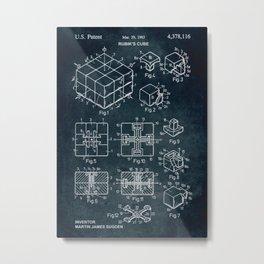 1983 rubik cube patent art Metal Print