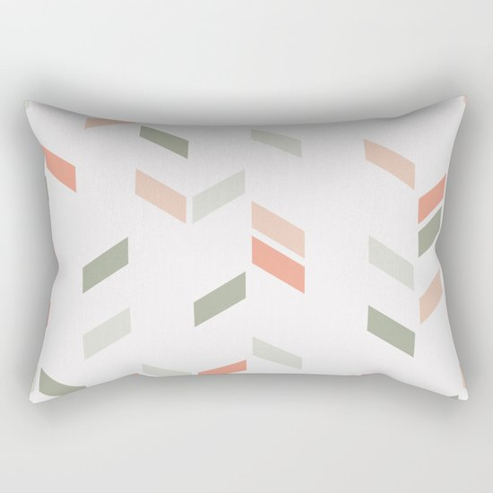 Geometric Confetti (Rose Garden) Rectangular Pillow