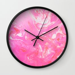 Pink marble Wall Clock