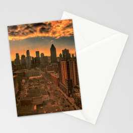 Montreal Skyline Stationery Cards