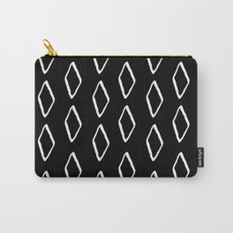 mudcloth 12 minimal textured black and white pattern home decor minimalist beach Carry-All Pouch