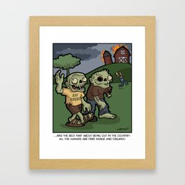 Free Range Humans Framed Art Print
