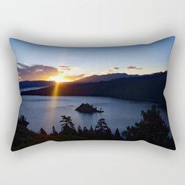Sunrise at Emerald Bay Rectangular Pillow