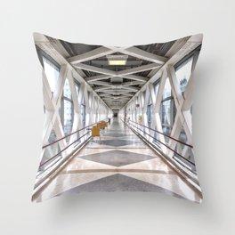 OHSU Suspended Skybridge Throw Pillow
